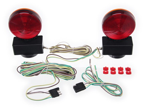Maxxtow magnetic tow lights red and amber leds 4 way flat maxxtow tow bar wiring universal magnetic mount lights red and amber leds 4 way aloadofball Images