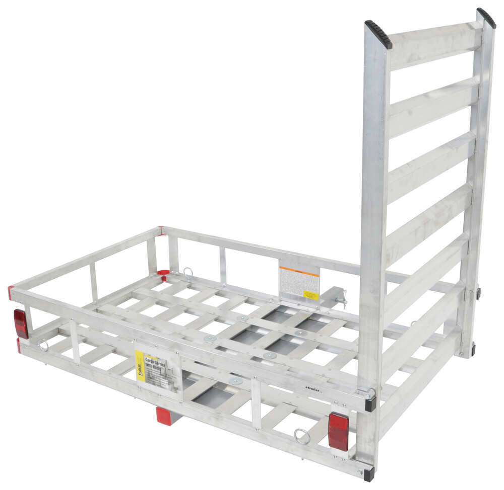 "MaxxTow 27x47 Cargo Carrier w/ Pivoting Ramp - 2"" Hitches - Extruded Aluminum - 500 lbs Aluminum MT70100"