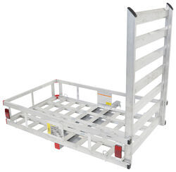 MaxxTow 27x47 <strong>Cargo</strong> Carrier w/ Pivoting Ramp - 2&quot; Hitches - Extruded Aluminum - 500 lbs - MT70100