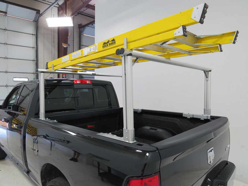 Maxxtow truck bed ladder rack w load stops aluminum for Wrap master model 1500