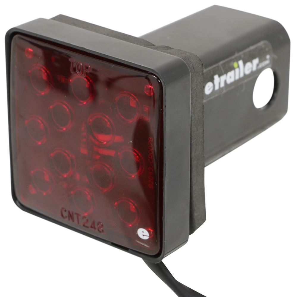"MaxxTow MaxxHaul Square LED Brake Light Trailer Hitch Cover for 2"" Hitches - Plastic Plain MT70429"