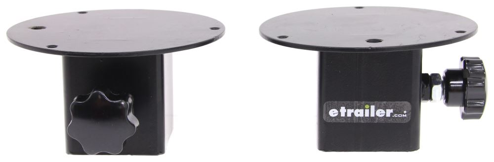 Beacon Light Mounting Brackets for MaxxTow Headache Racks - Black - Qty 2 Light Brackets MT70454