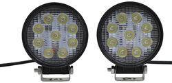 "MaxxTow Off-Road Lights - LED - 54 Watts - Wide Spot Beam - 4-1/2"" Diameter - Qty 2"