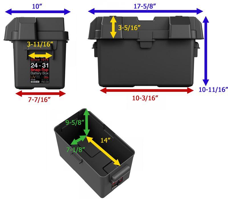 NOCO HM318BK Group 24-31 Snap-Top Battery Box