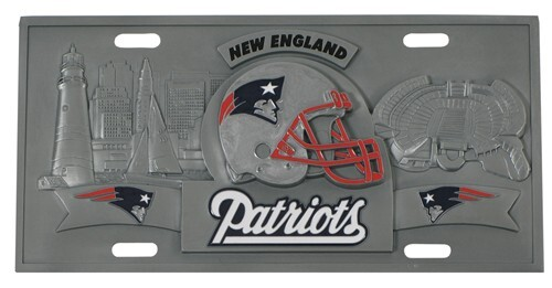 New England Patriots Nfl Sport Plate 3d License Plate