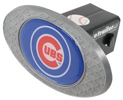 "Chicago Cubs 2"" MLB Trailer Hitch Receiver Cover - Zinc"