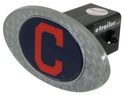 "Cleveland Indians 2"" MLB Trailer Hitch Receiver Cover - Zinc"