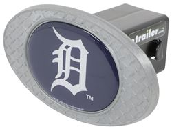 "Detroit Tigers 2"" MLB Trailer Hitch Receiver Cover - Zinc"