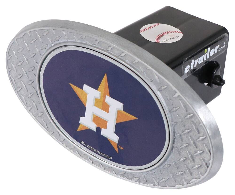 "Houston Astros 2"" MLB Trailer Hitch Receiver Cover - Zinc Houston Astros OHCC2112"