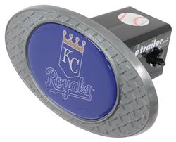 "Kansas City Royals 2"" MLB Trailer Hitch Receiver Cover - Zinc"