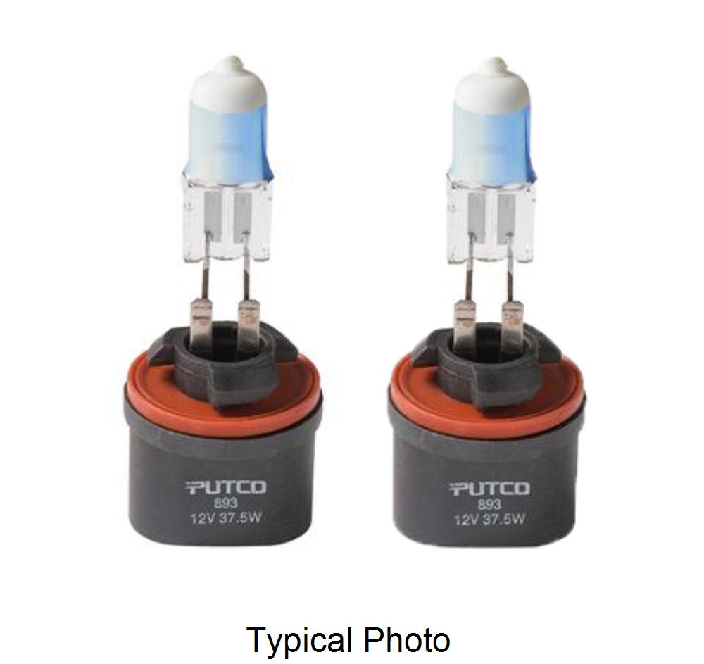 Putco Pure High Performance 893 Halogen Fog Lamp Bulbs