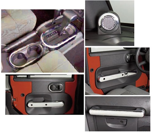 2006 Jeep Wrangler Interior: Putco Complete Chrome Interior Accessories Kit For Jeep