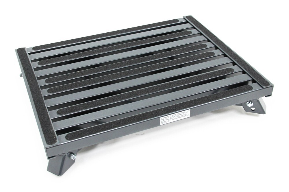 Adjustable Height Folding Platform Step Aluminum 19