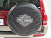"Harley-Davidson Spare Tire Cover - Water Resistant - 27"" to 31"" Tires - Black and White Harley-Davidson PC000795R01"