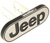 "Jeep Logo Trailer Hitch Cover - 1-1/4"" and 2"" Hitches - Aluminum Jeep PC002258R01"