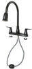 Phoenix Faucets Catalina RV Kitchen Faucet - Pull Down Spout - Dual Lever Handle - Bronze Rubbed Bronze PF221503