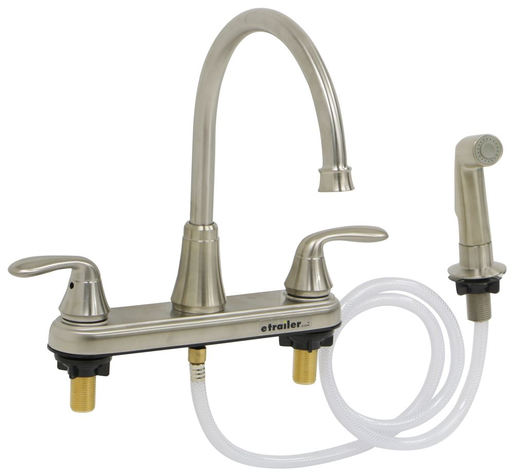 Phoenix faucets 8 dual handle rv kitchen faucet with side - Rv kitchen sink faucet ...