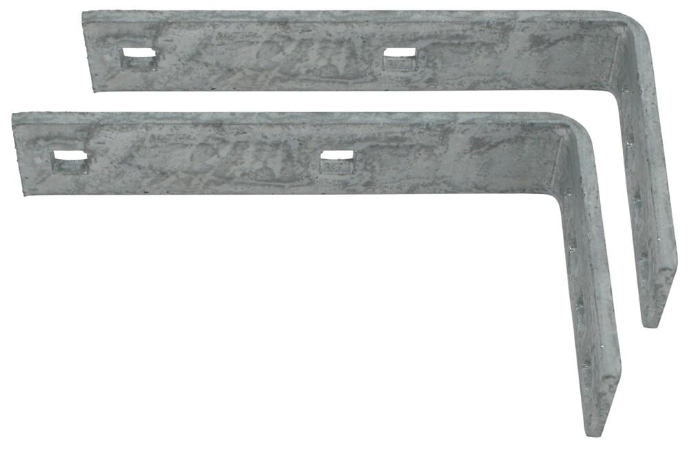 Galvanized Steel, L-Shaped, Bolt-On Brackets for Plastic