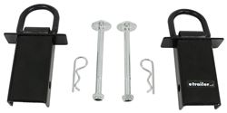 "Stake Pocket Tie-Down Anchors - Black Powder Coat - 2-3/4"" D-Ring - 4,000 lbs - Qty 2"
