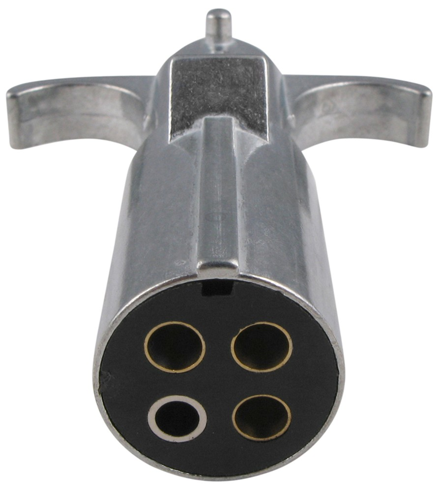Pollak Heavy-duty  4-pole  Round Pin Trailer Wiring Connector - Metal