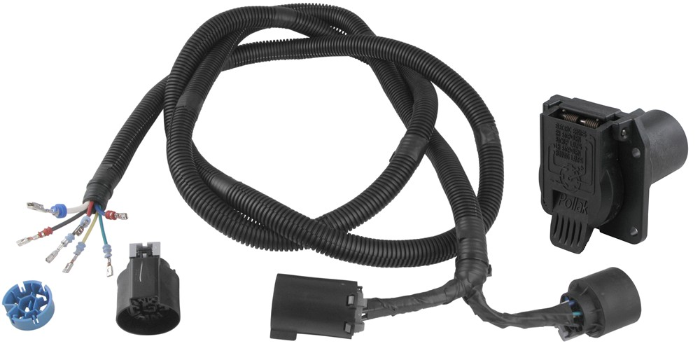 pollak 5th wheel / gooseneck t-connector with 7-pole - ford, gm, dodge,  nissan w/ factory plug pollak custom fit vehicle wiring pk11893-11932