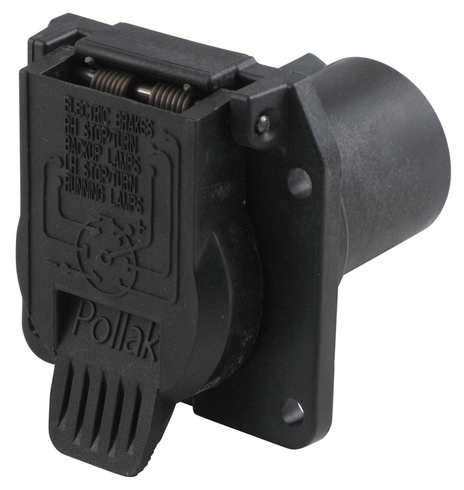 Pollak Replacement 7-pole  Rv-style Trailer Connector Socket - Vehicle End