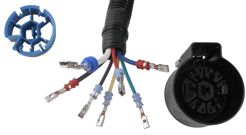pollak 5th wheel and gooseneck trailer connector wiring harness w/ t-connector  pollak custom fit vehicle wiring pk11932