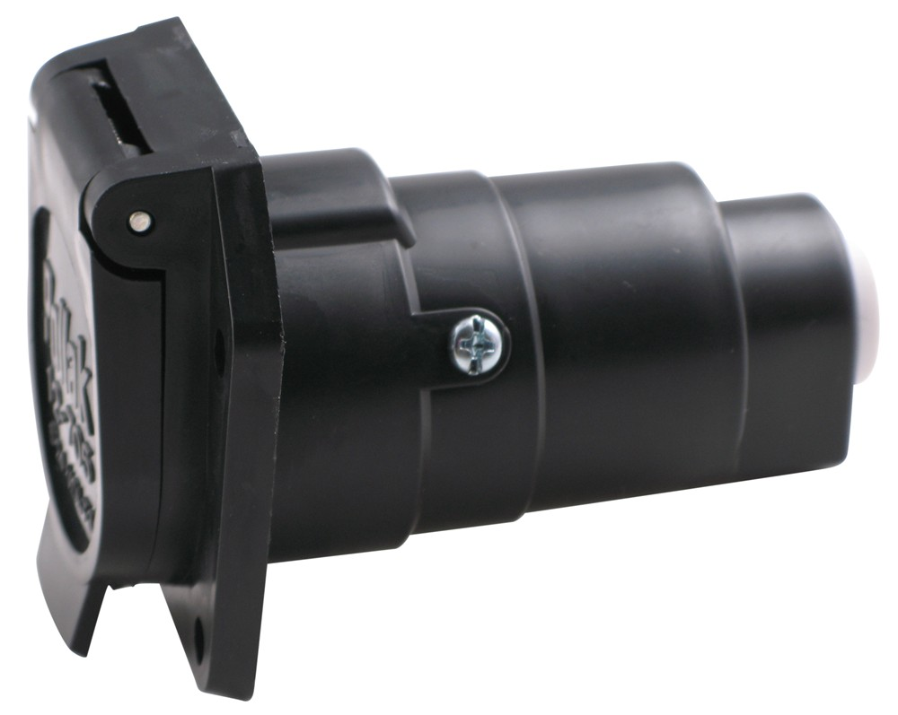 pollak black plastic 7 pole rv style trailer socket. Black Bedroom Furniture Sets. Home Design Ideas