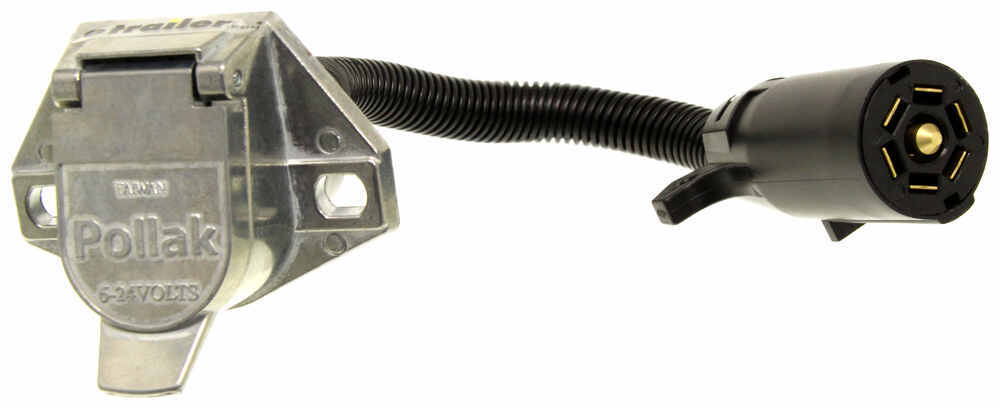 Pollak Trailer Connector Adapter - 7-blade Plug To 7-pole Round Pin