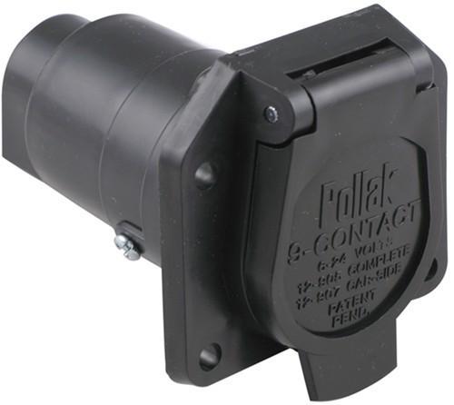 9 Pin Trailer Plug Wiring Diagram : Pollak pole round pin trailer socket vehicle end