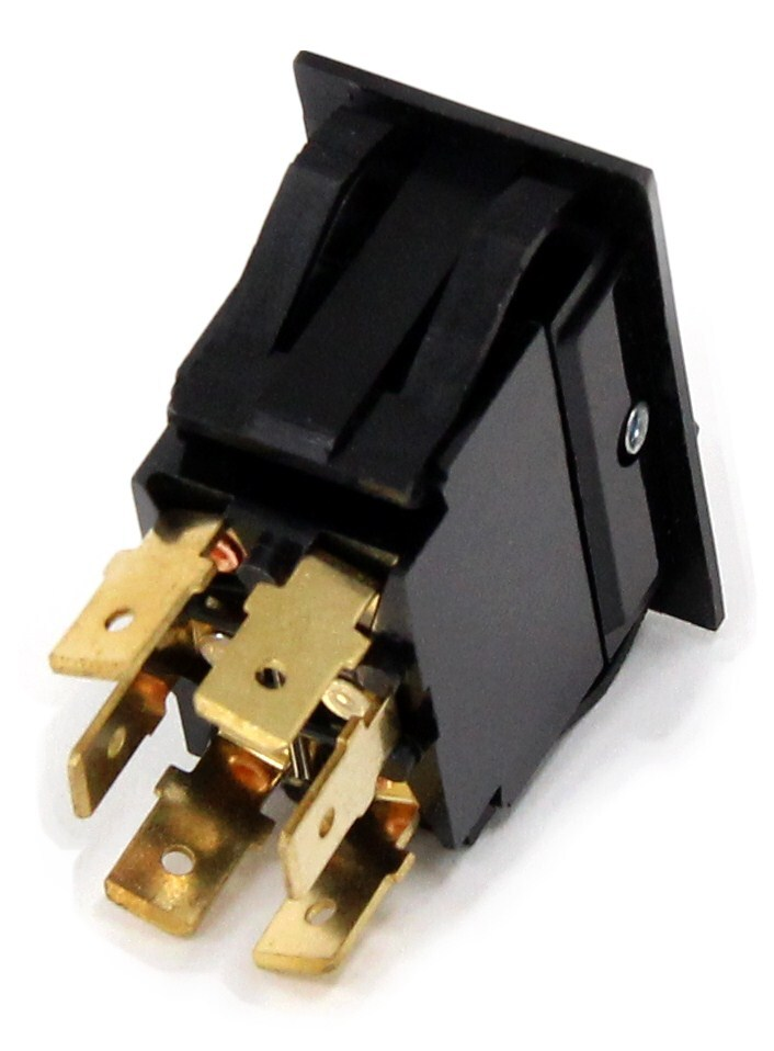 Universal Design Rocker Switch Dual Actuators Dpdt
