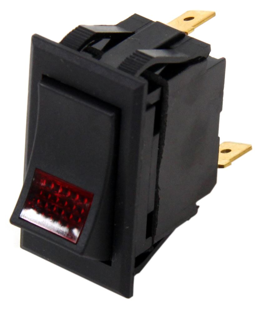 Universal Design Rocker Switch Spst On Off 12 Volt 20 Amp 25 Metal Toggle Automotive Wiring 3 Blade Red Pilot Light Pollak Accessories And Parts Pk34360