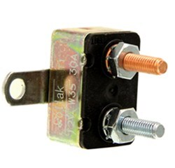 Circuit Breaker - 30 Amp - Perpendicular Mount Bracket - Cycling Auto Reset - Metal - Type I