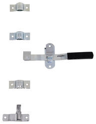 Cam-Action Lockable Door Latch Kit w/ Wide Hasp for Small Enclosed Trailers - Zinc-Plated Steel