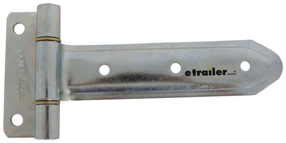 "T-Strap Hinge for Side and Rear Trailer Doors - 8"" Long - Steel Hinge PLR3408"