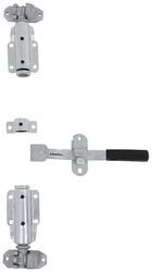 Cam-Action Lockable Door Latch Kit for Large Enclosed Trailers - Zinc-Plated Steel