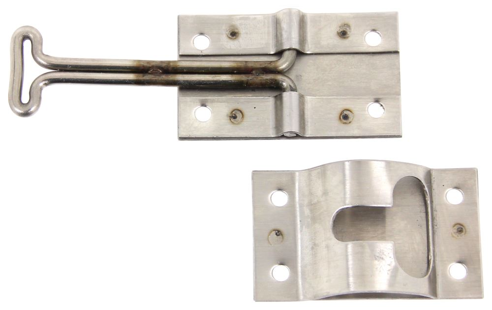 Hook And Keeper For Enclosed Trailer Door Stainless