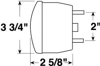 [SCHEMATICS_49CH]  Peterson Trailer Tail Light - Stop, Turn, Tail - Incandescent - Round - Red  Lens - Passenger Side Peterson Trailer Lights 431800 | Peterson Trailer Wiring Diagram |  | etrailer.com