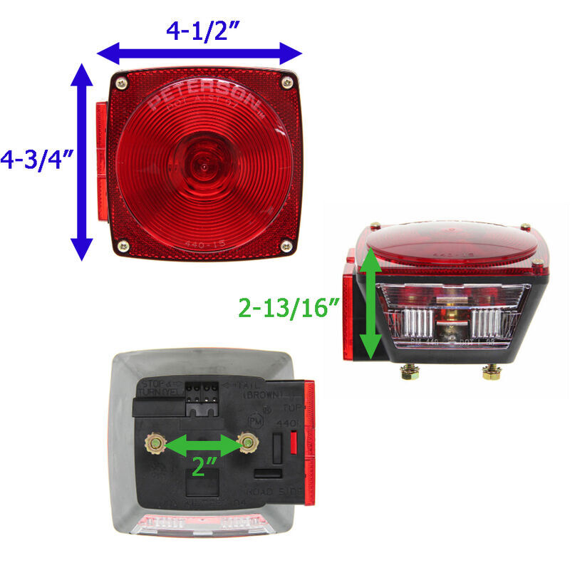 peterson combination trailer tail light  7 function