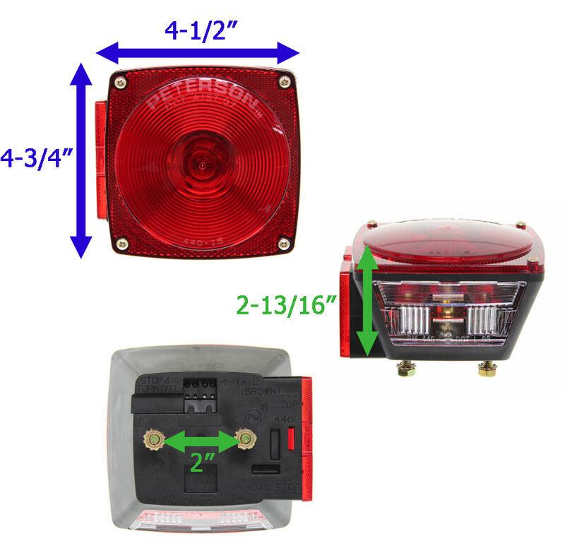 [SCHEMATICS_48YU]  Peterson Combination Trailer Tail Light - 7 Function - Incandescent -  Square - Driver Side Peterson Trailer Lights 432400 | Peterson Trailer Wiring Diagram |  | etrailer.com