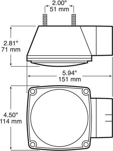 """peterson tail light for trailers over 80"""" wide  7 function"""