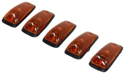 Pacer Performance Hi-Five Truck Cab Lights - Chevy/GM - 5 Piece - Clear Bulbs - Amber Lens