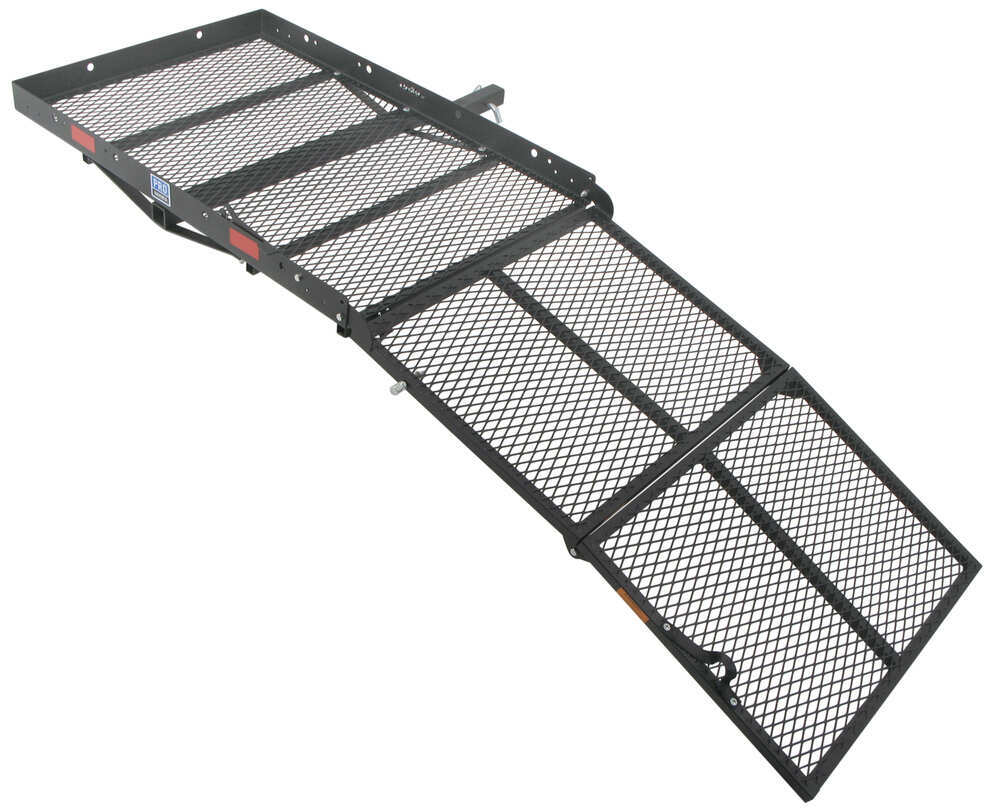 """32x48 Reese Steel Solo Cargo Carrier and Folding Ramp for 2"""" Hitches - 400 lbs Steel PS10401-10402"""