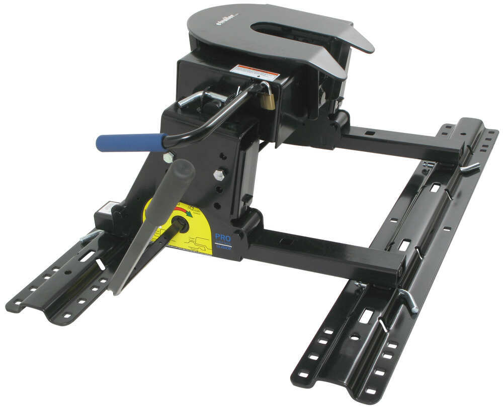 Pro Series 5th Wheel Hitch W Square Tube Slider Rails
