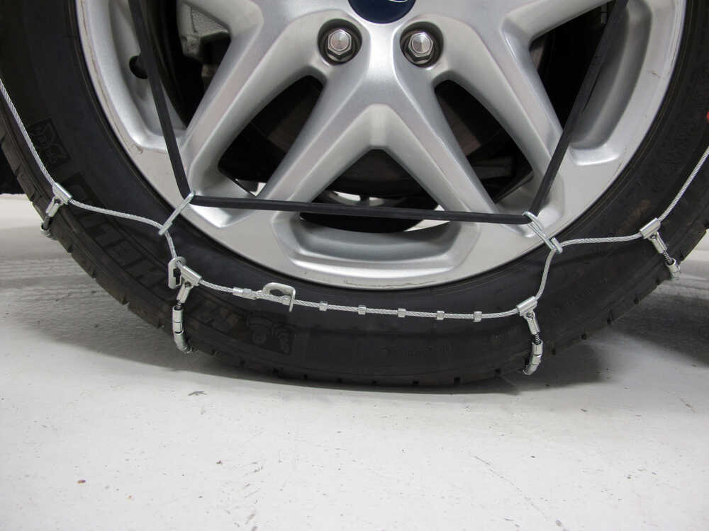 ford fusion glacier cable snow tire chains  pair
