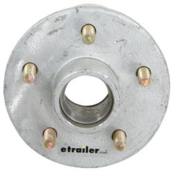 Kodiak Trailer Hub for 3,500-lb Axles - 5 on 4-1/2 - Galvanized Steel