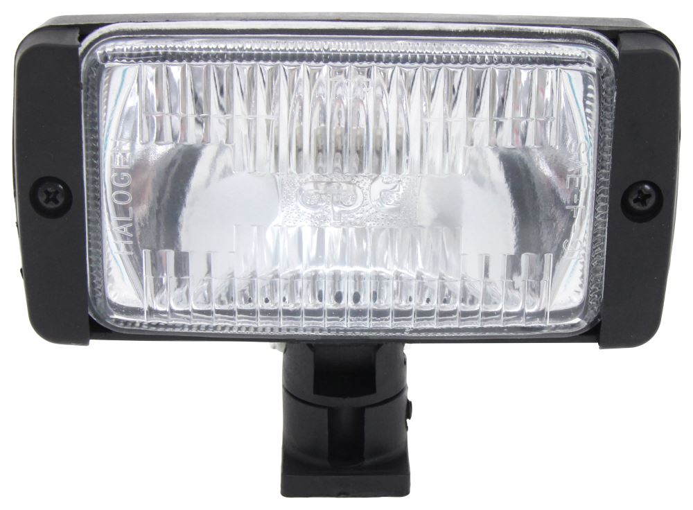 Optronics Halogen Multi-Directional Light - Post Mount - Flood Beam - Rectangle - Clear Lens 6L x 3W Inch QH36CTS