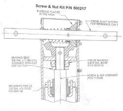 diagram of a 10k bulldog landing gear jack for gear replacement rh etrailer com Trailer Jack Parts Breakdown Trailer Jack Parts Breakdown