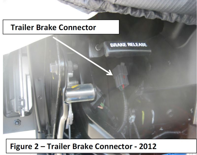 location of brake controller wiring connector on 2014