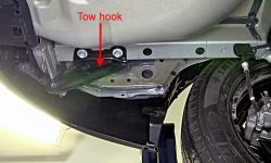Where Is Tow Hook That Has To Be Removed To Install Trailer Hitch - Install Trailer Hitch Rav4